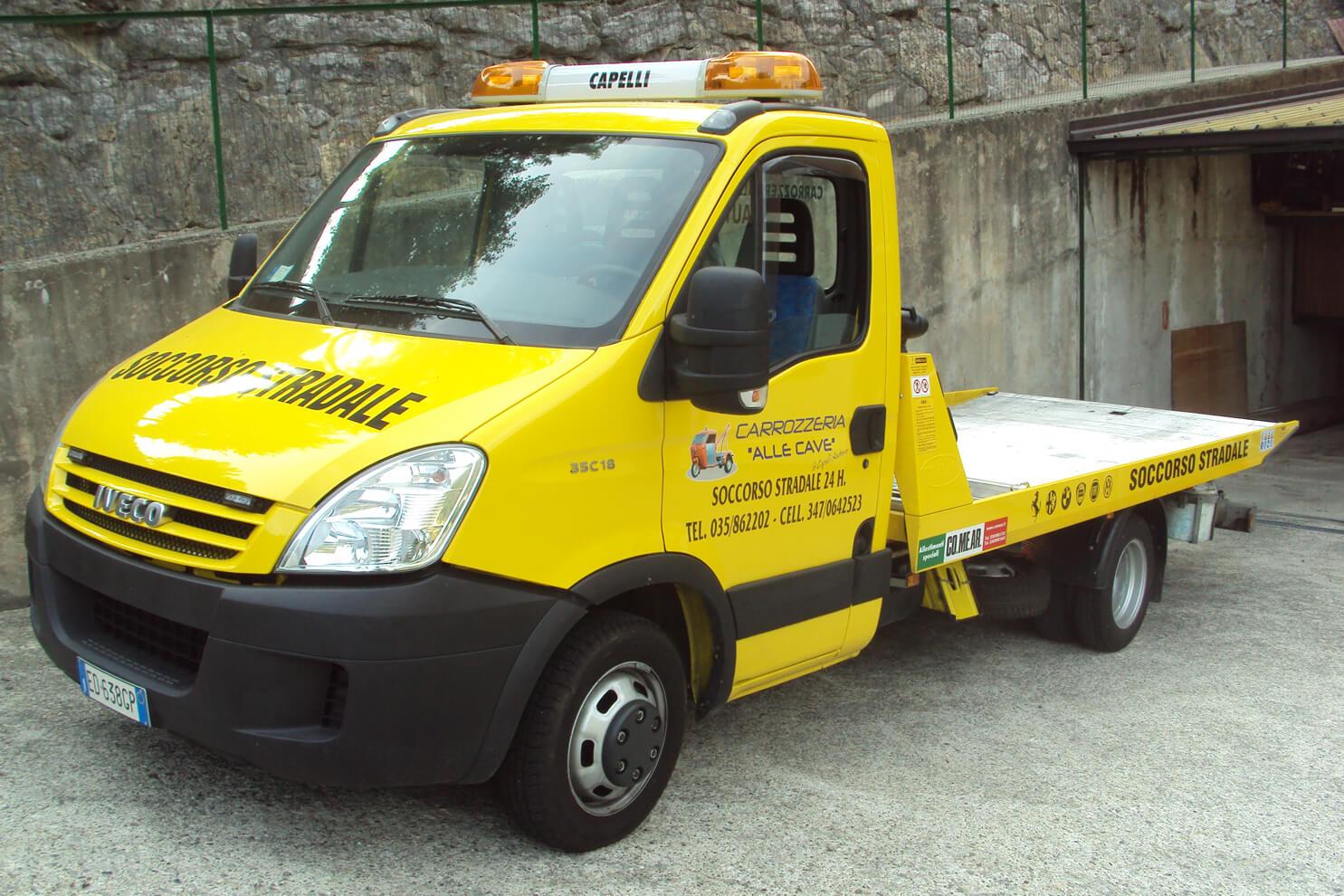soccorso stradale con carroattrezzi a Bergamo